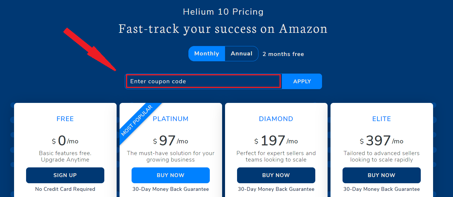 Helium 10 Discount Coupon Page