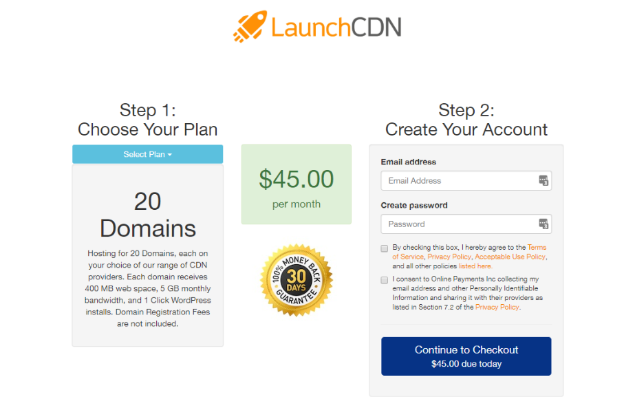 LaunchCDN Review- Pricing Plans
