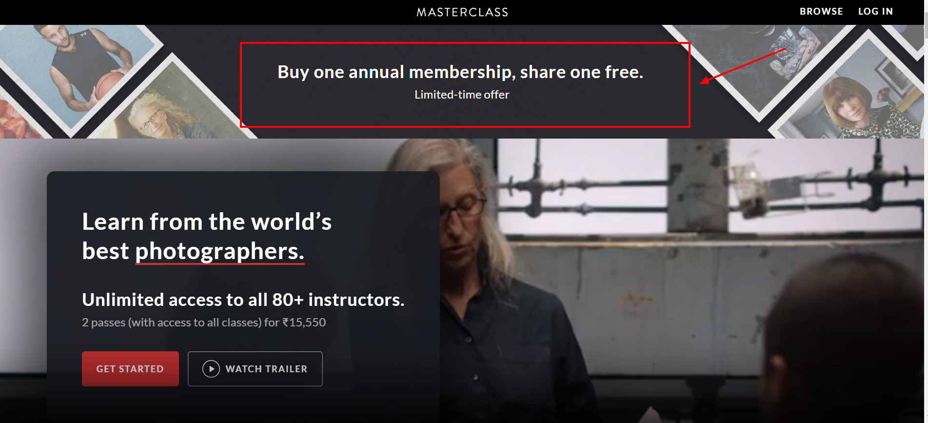 MasterClass free trial one on one