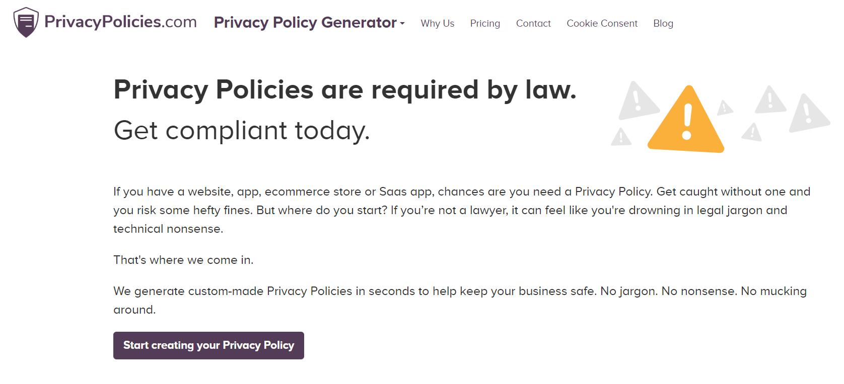 Privacy Policies Review- 1 Privacy Policy Generator Free GDPR CalOPPA