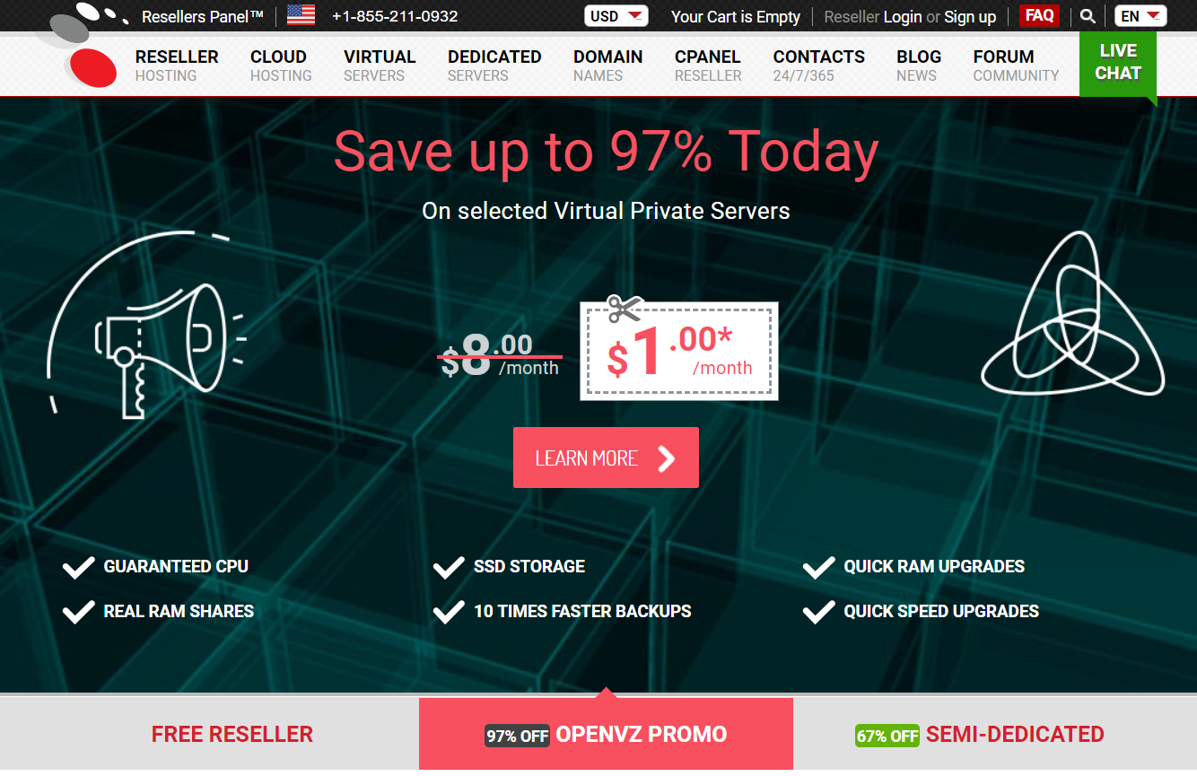 ResellerPanel Hosting Discount Promo Codes- Get Upto 97% Off Now