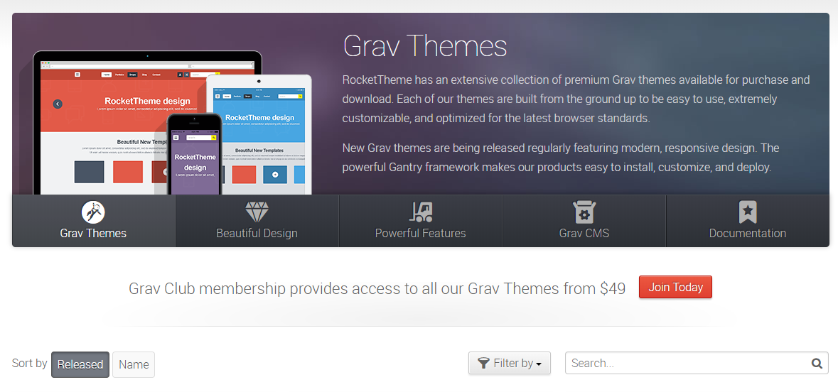 RocketTheme Review With Discount Coupon- Grav Themes
