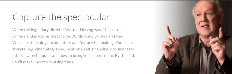 Werner Herzog Masterclass Review