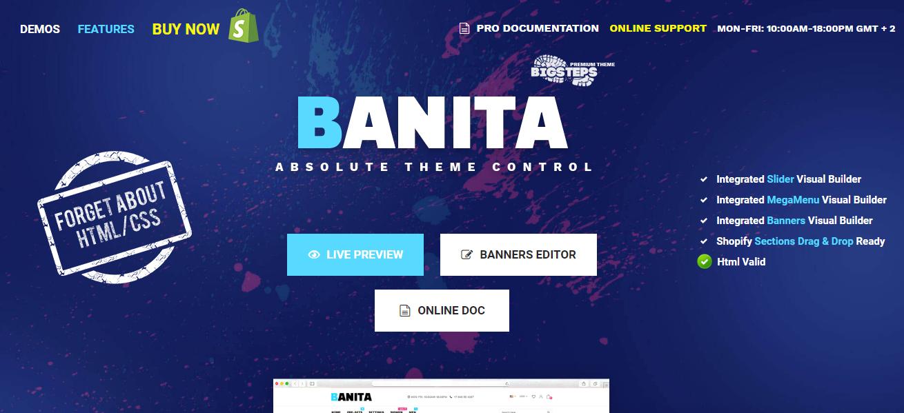 best shopify themes- banita