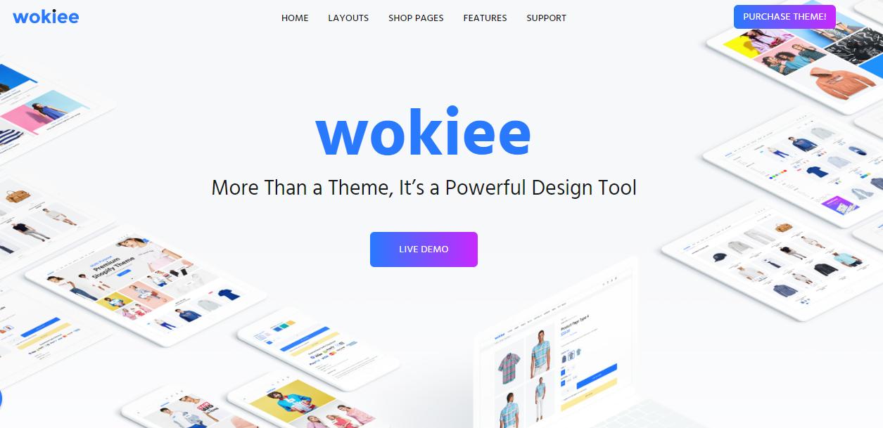 best shopify themes- wokiee