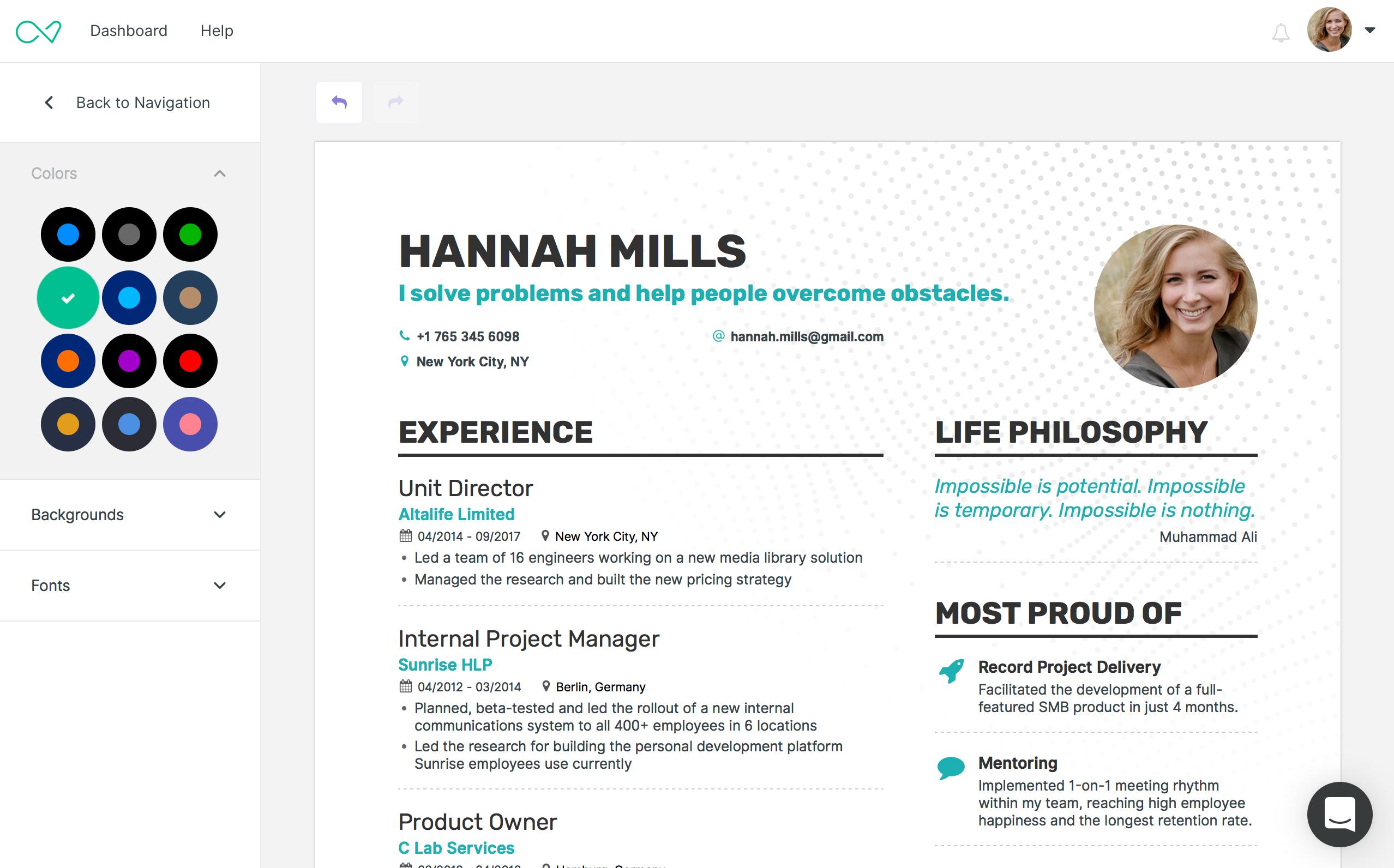 Enhancv resume builder for everyone