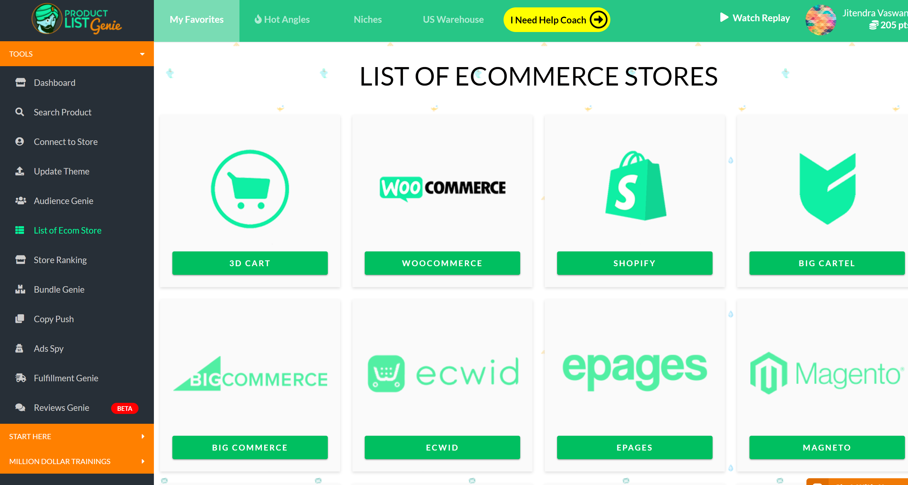 E-Commerce Business with Shopify and Product List Genie