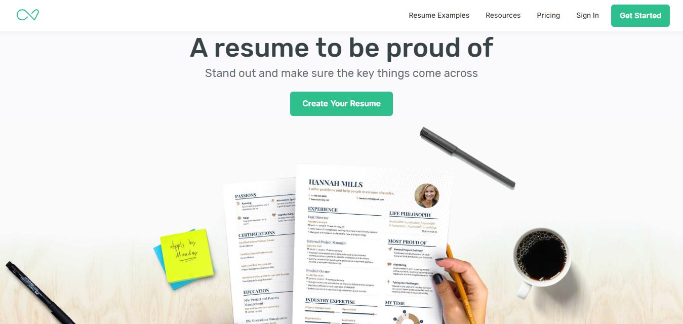 Resume builder Enhancv - stand out
