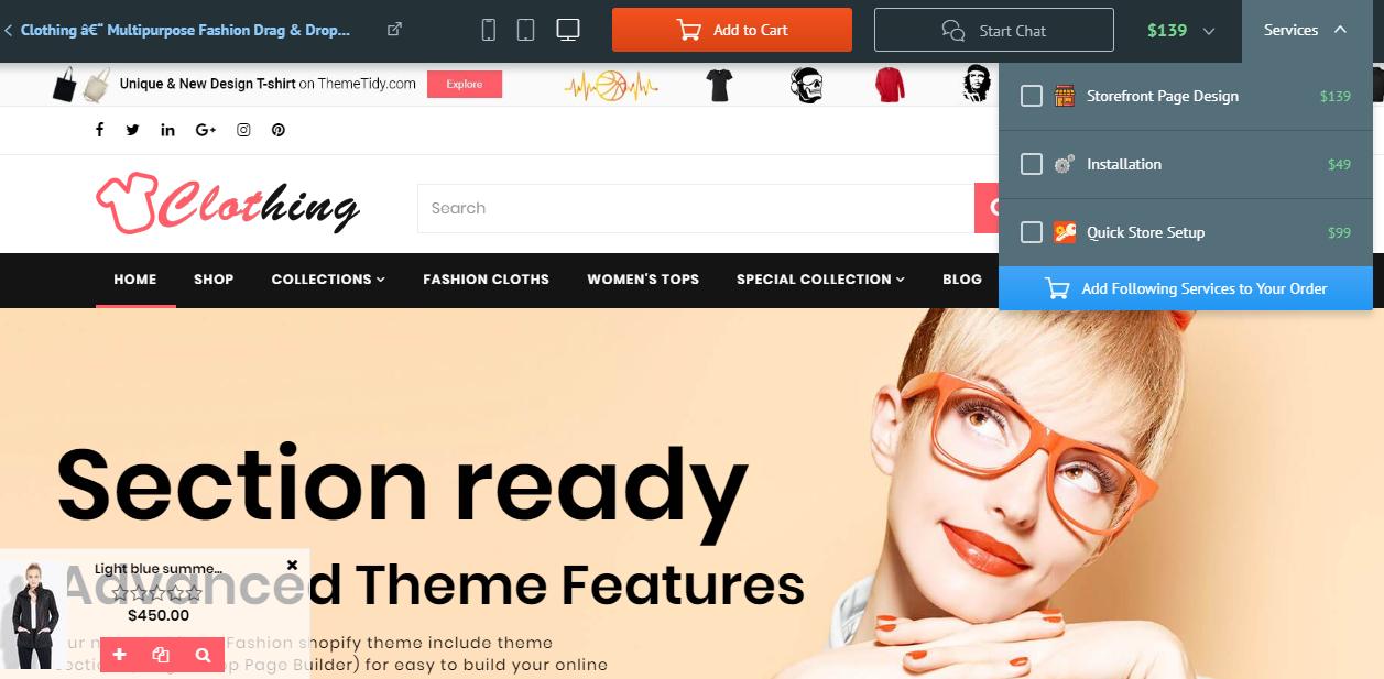 Best Shopify Theme- Clothing