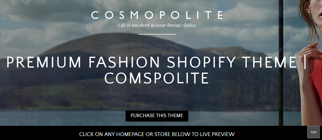 Best Shopify Theme- Cosmpolite