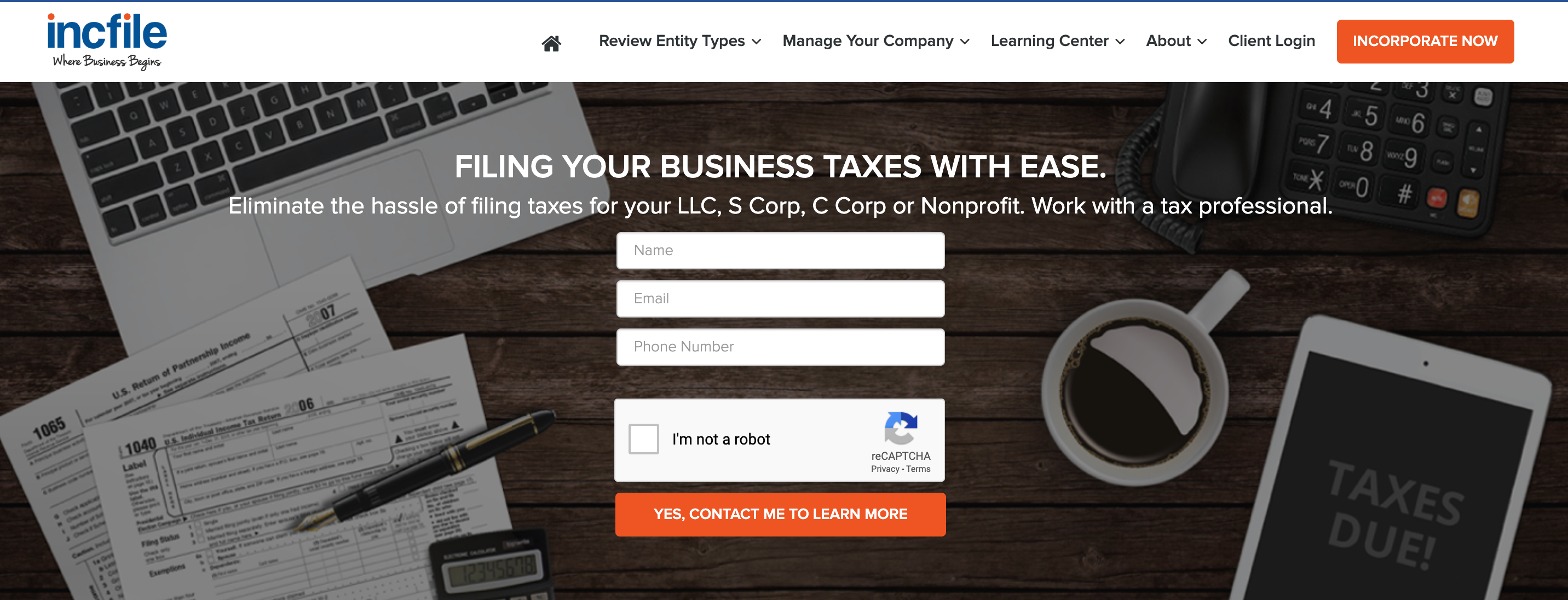 Filling Your Business Tax