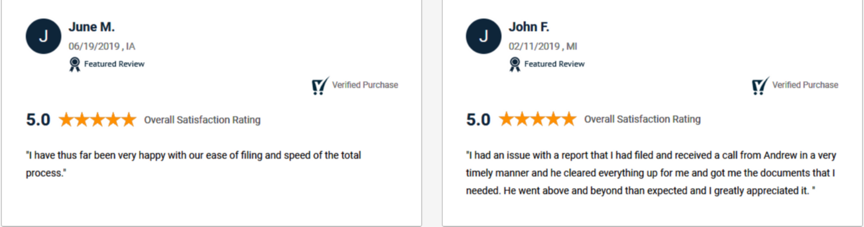 IncFile LLC Customer Reviews