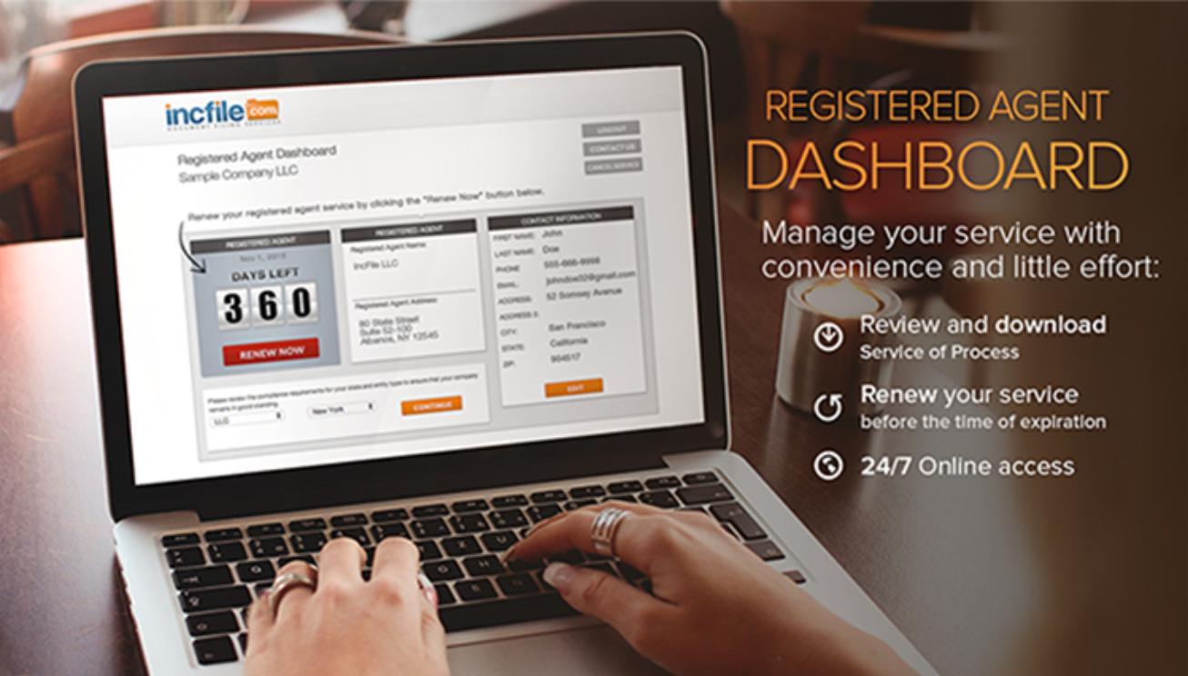 IncFile Registered Agent Dashboard