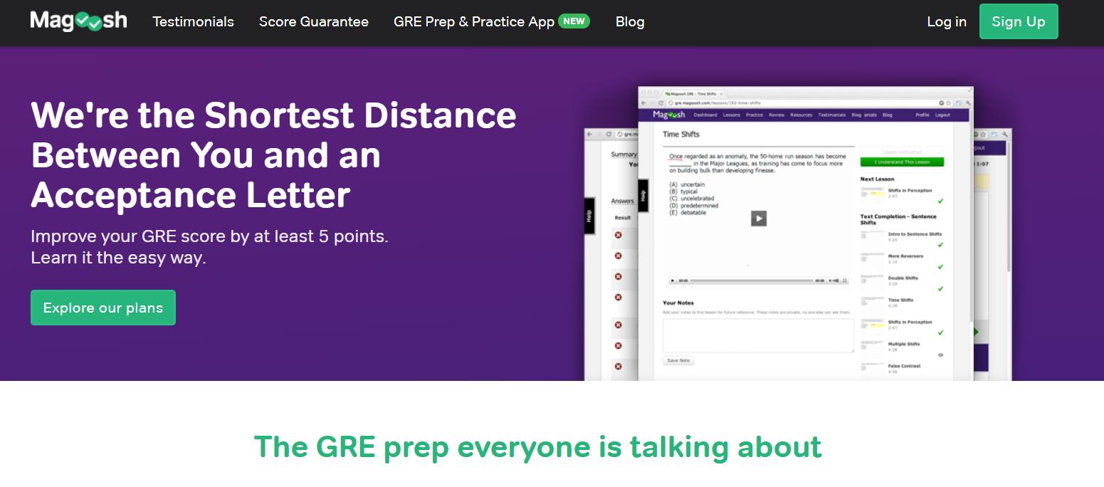 Magoosh Coupon Codes- Online GRE Prep Practice