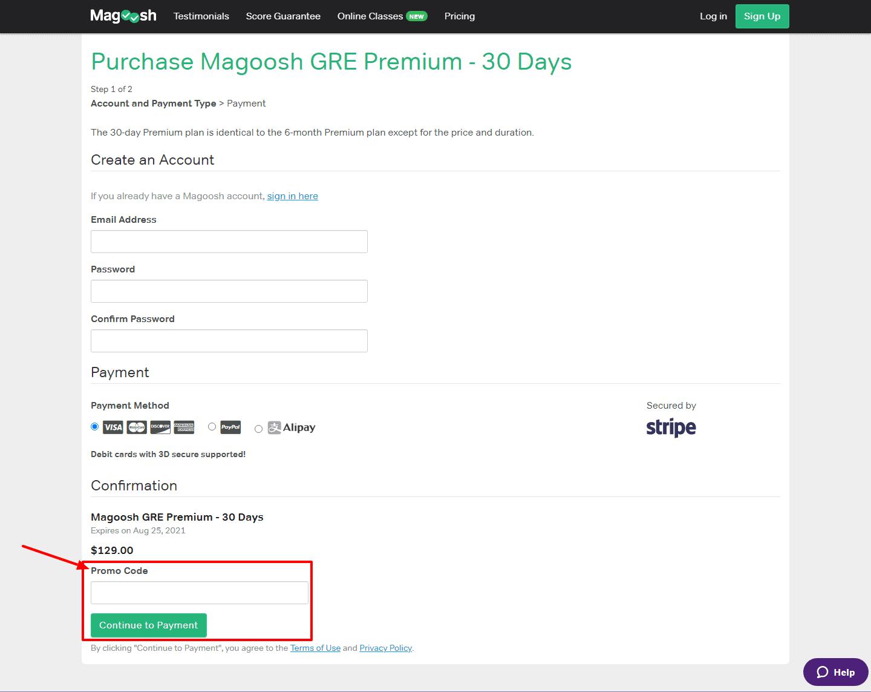 Magoosh act promo code 2021