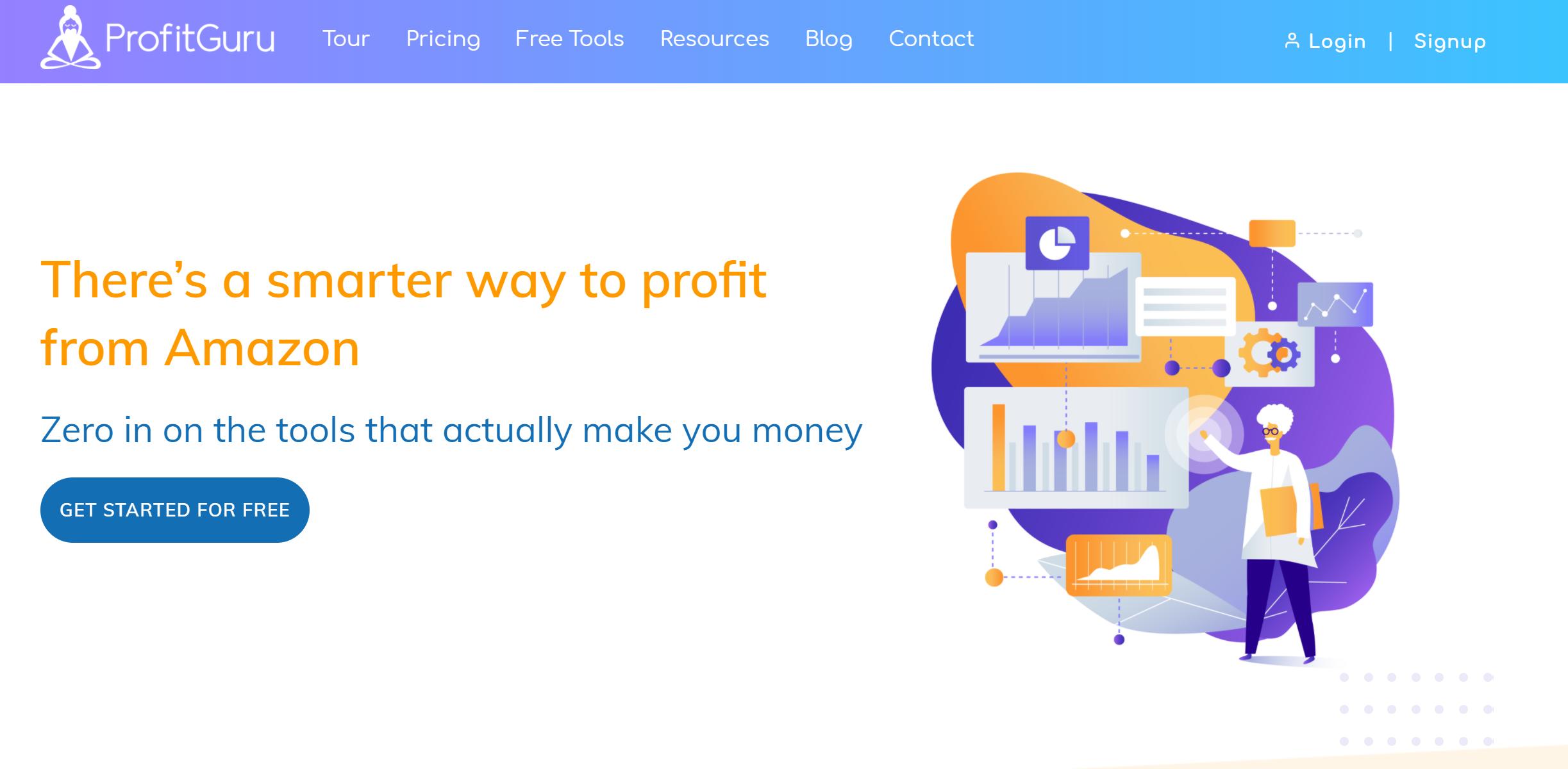 Profitguru best amazon seller tool