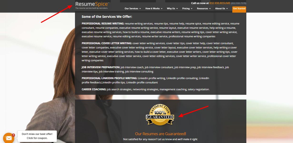 ResumeSpice Coupon code - full satisfy
