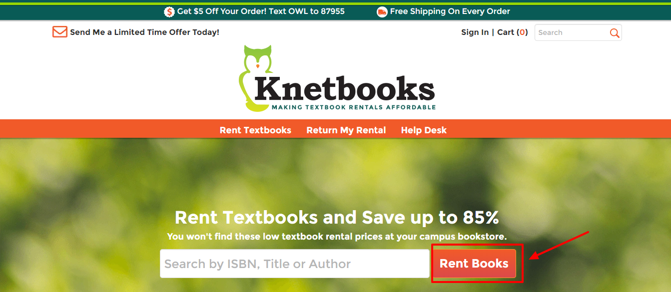 Knetbooks coupon code -textbook rentals