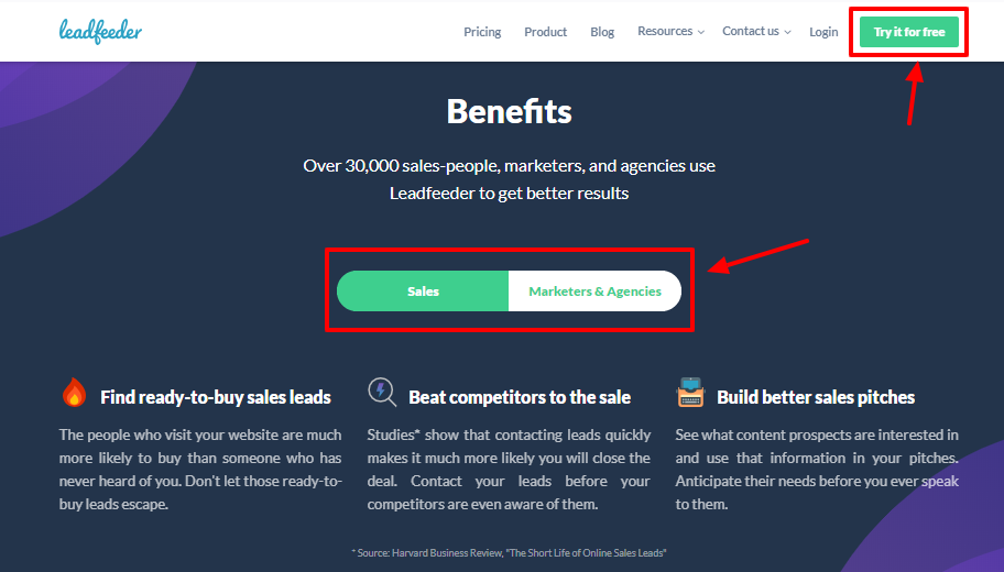 Leadfeeder review - benifits