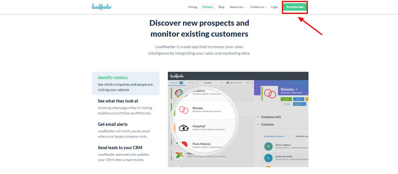Leadfeeder review - marketing team