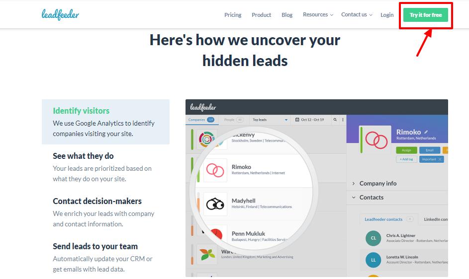 Leadfeeder review - smart plan