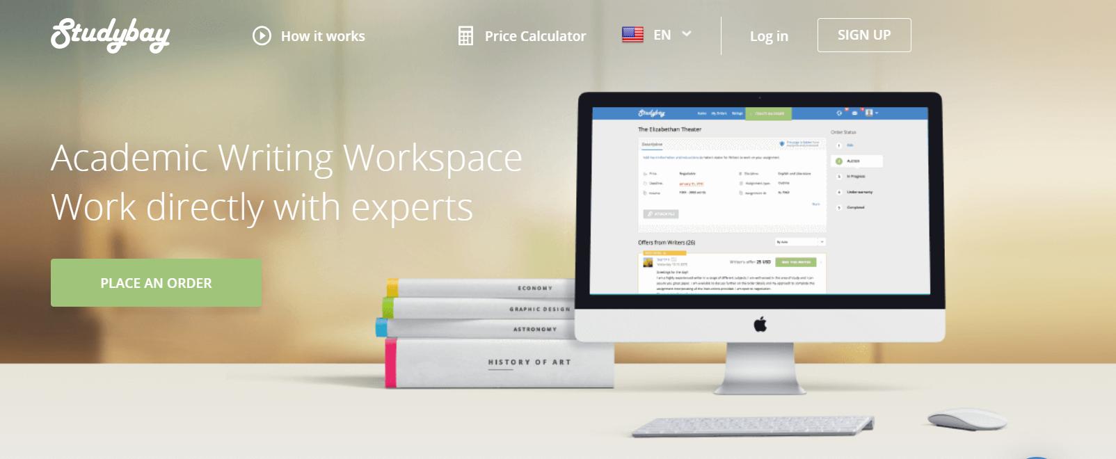 StudyBay Review-- Editing and Custom Writing Service