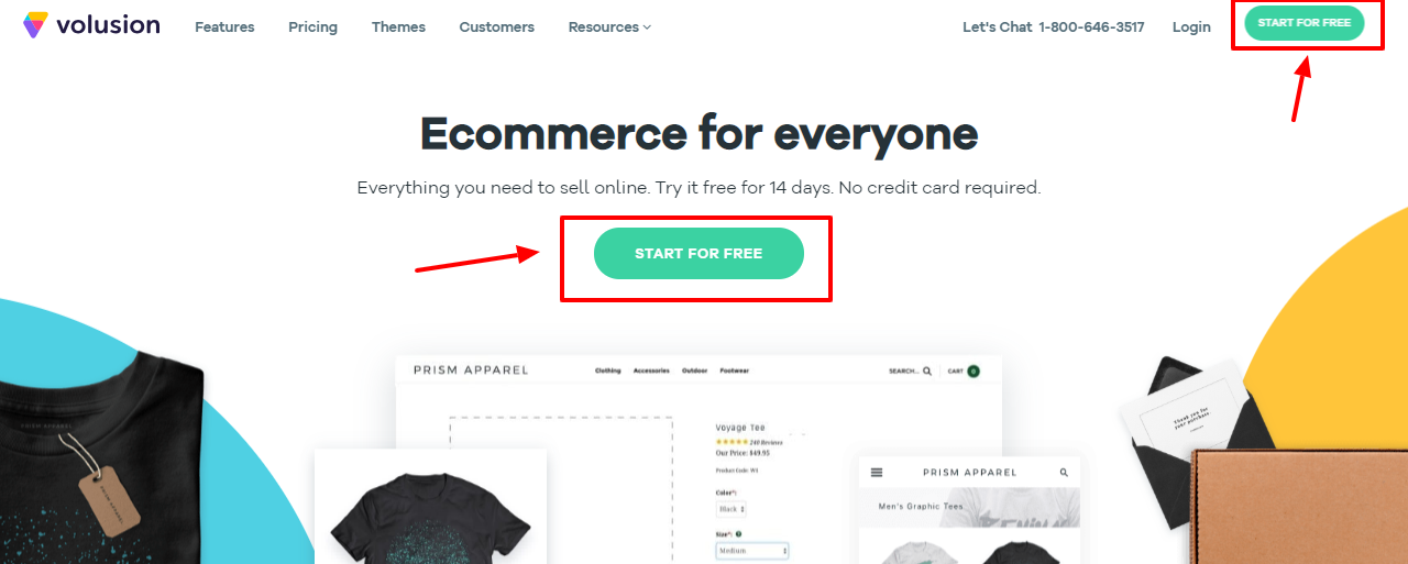 Best Ecommerce Platform -Volusion review start for free