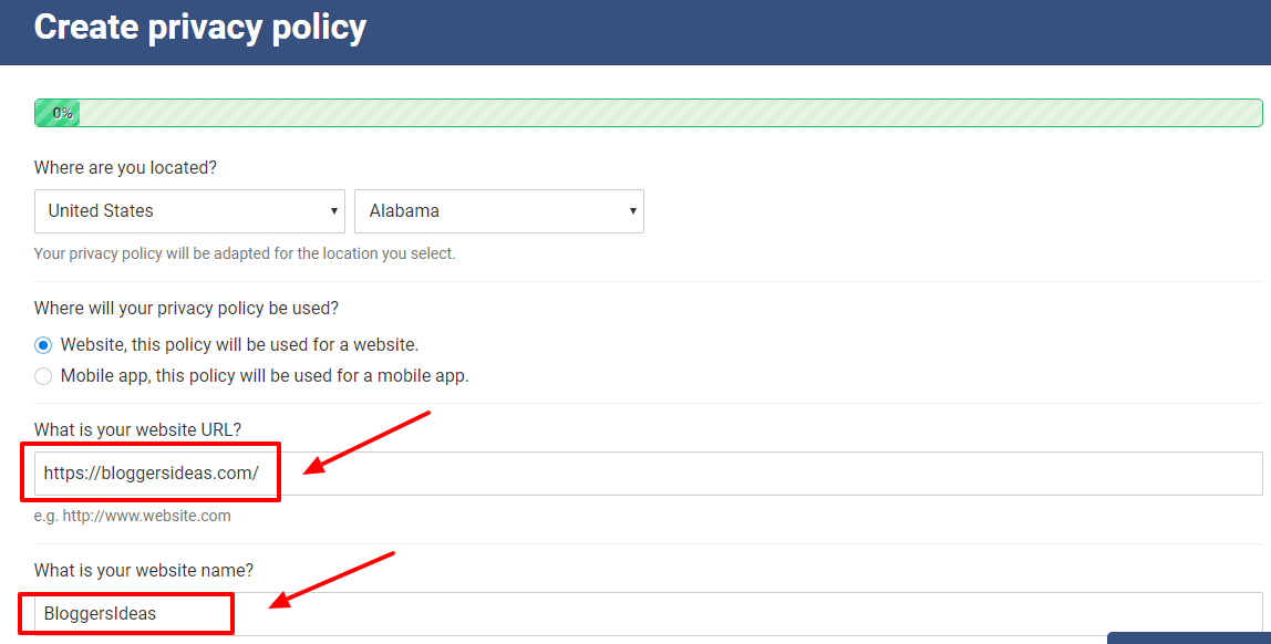 WebsitePolicies Review- Create Privacy Policy