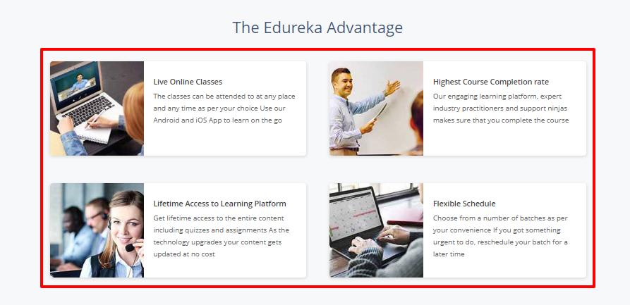 Edureka coupon code - advantages