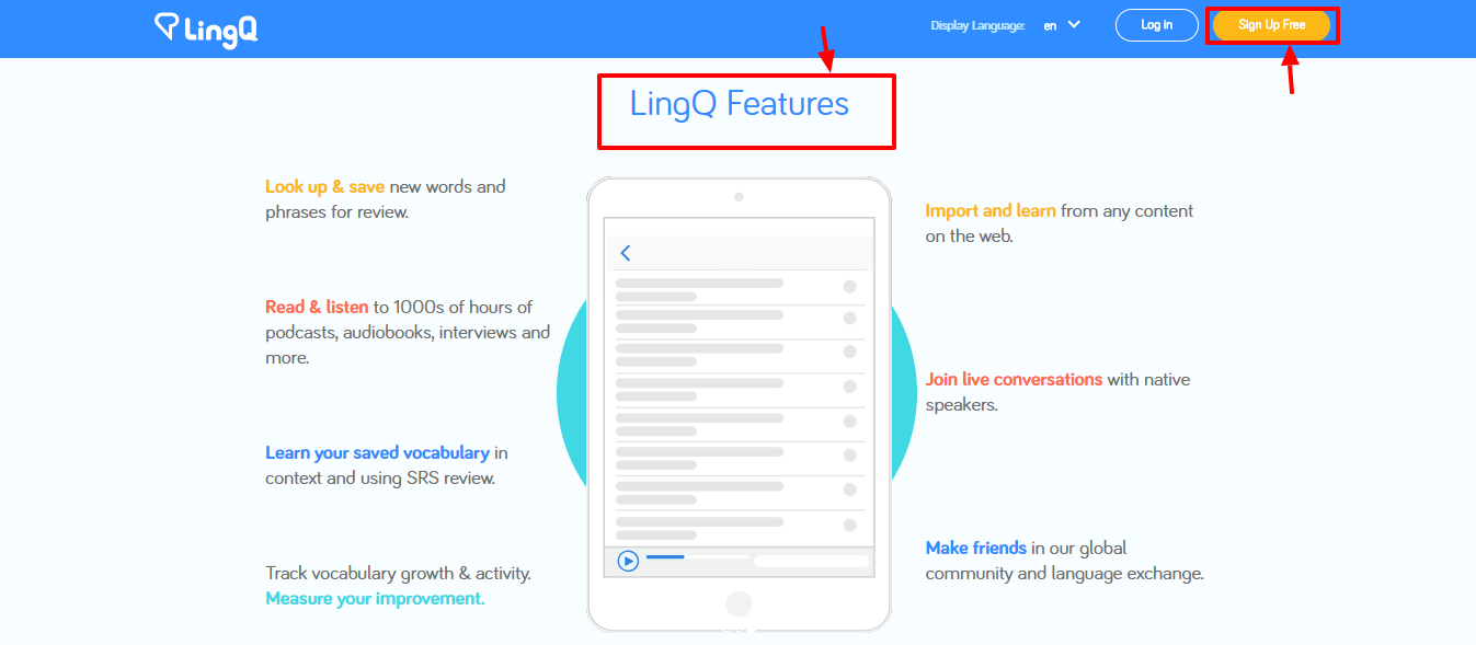 lingq review -features
