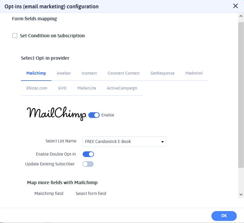 ARForms Review - Optin Email Marketing Configuration