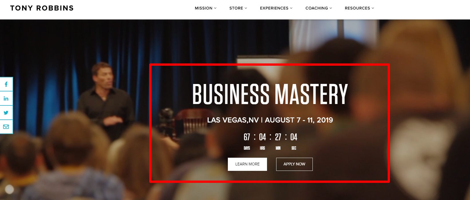 Business Mastery Event- Las Vegas 2019