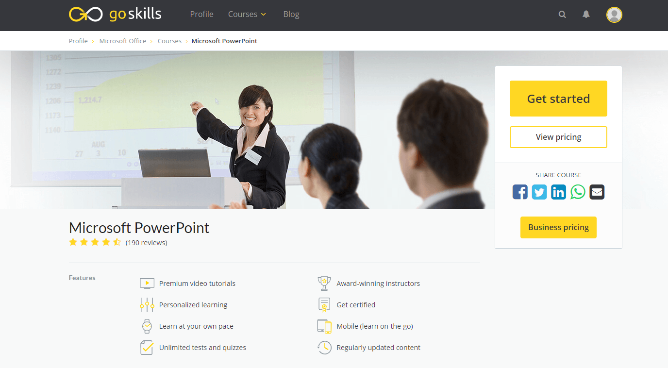 GoSkills Review With Discount Coupon- Microsoft PowerPoint Online Training Course