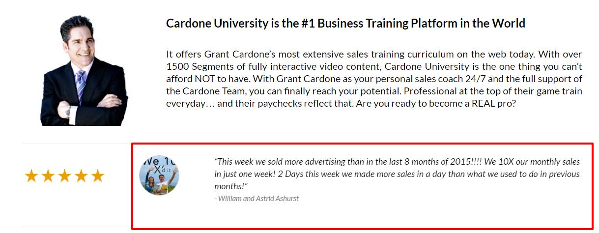 Grant Cardone University Review- Reviews
