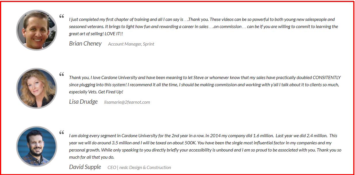 Grant Cardone University Review- Testimonials