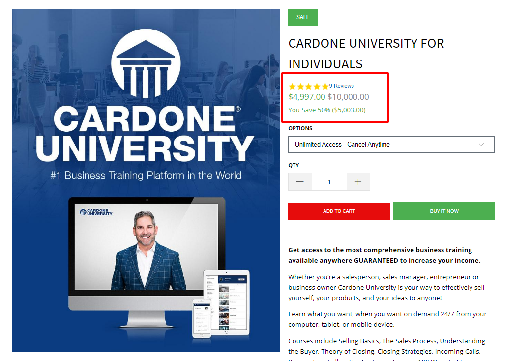 Grant Cardone University Review- The University Review