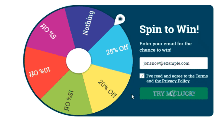 Growth Hacks for Bloggers - Tap To Spin Offer