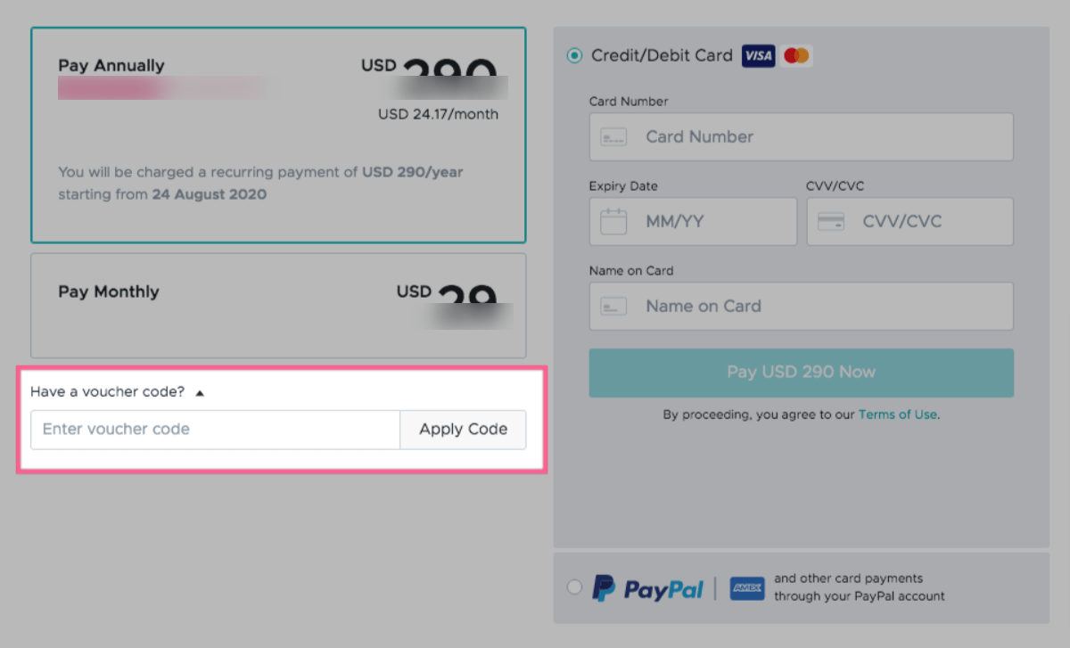 How to apply promo codes