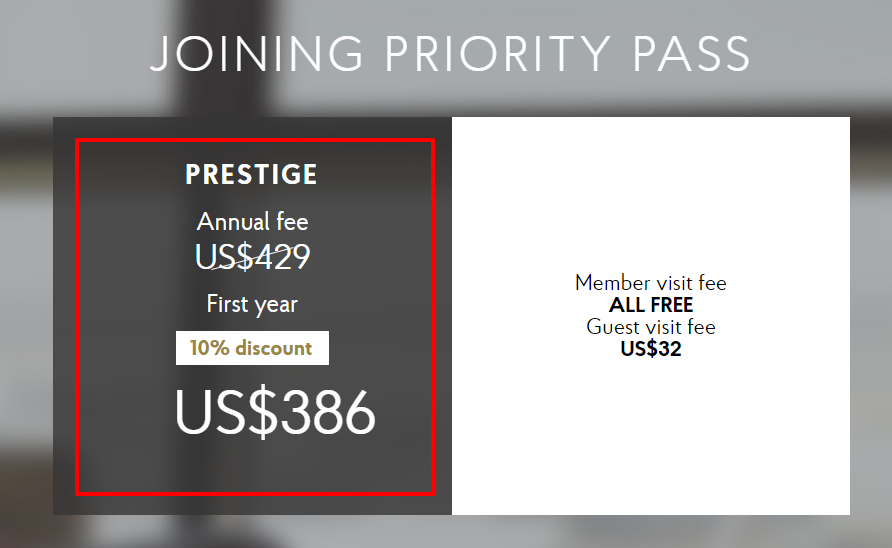 Priority Pass Coupon Codes- Prestige Plan