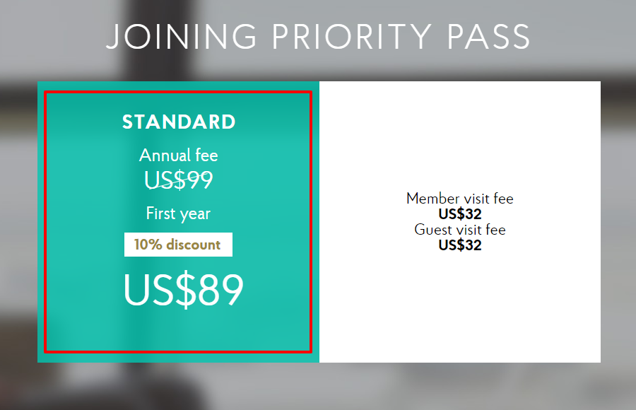 Priority Pass Coupon Codes- Standard Plan