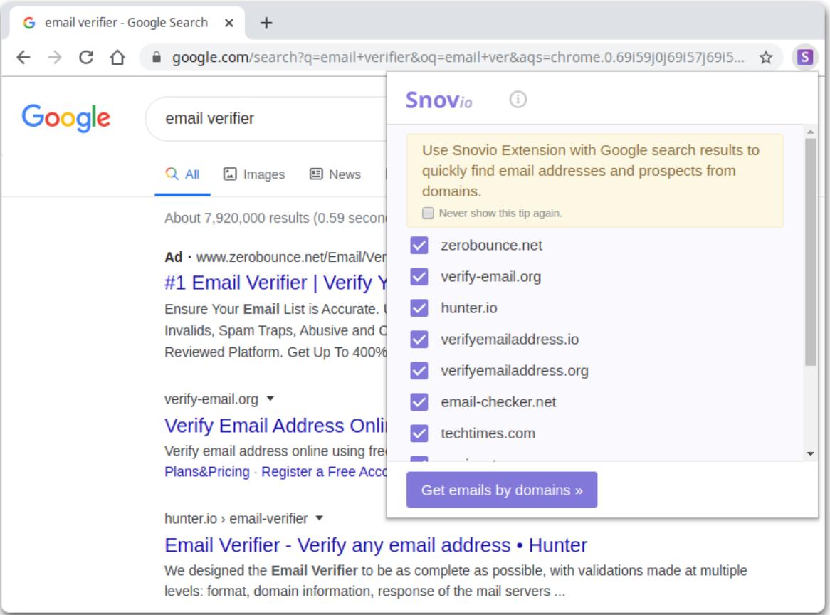 Snon.io- Email Verifier