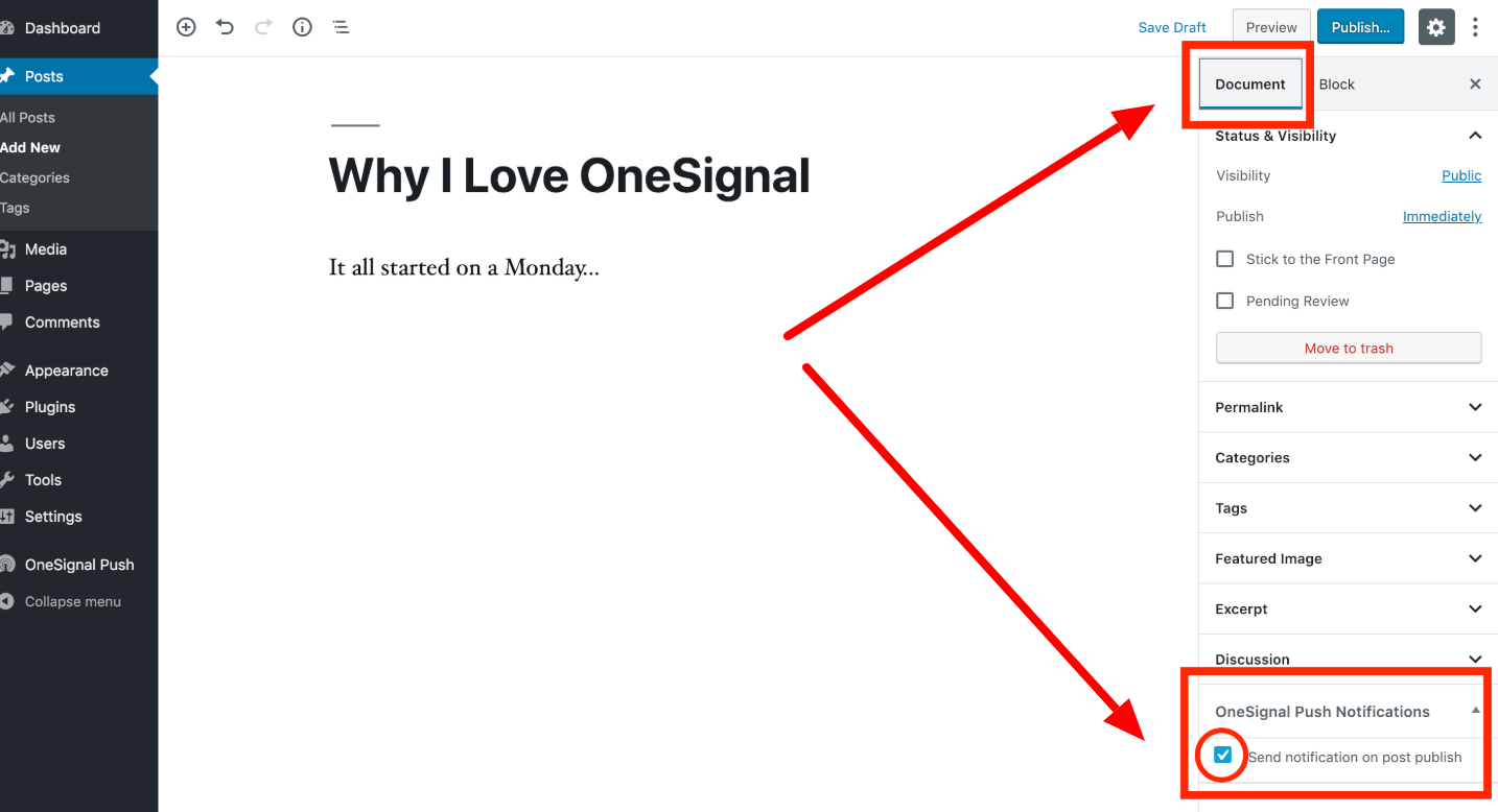 OneSignal - Push Notification Guide