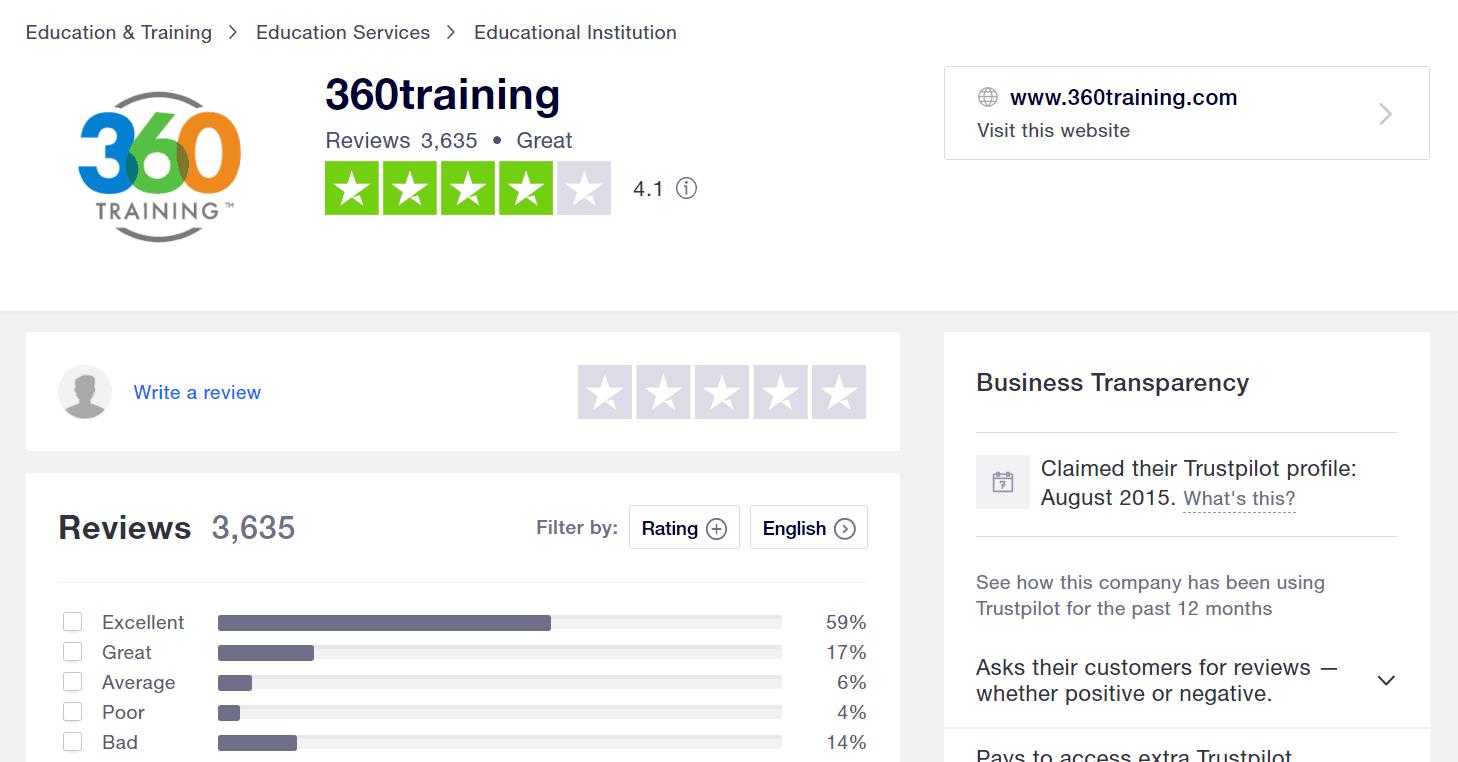 360training Reviews Customer Success Stories