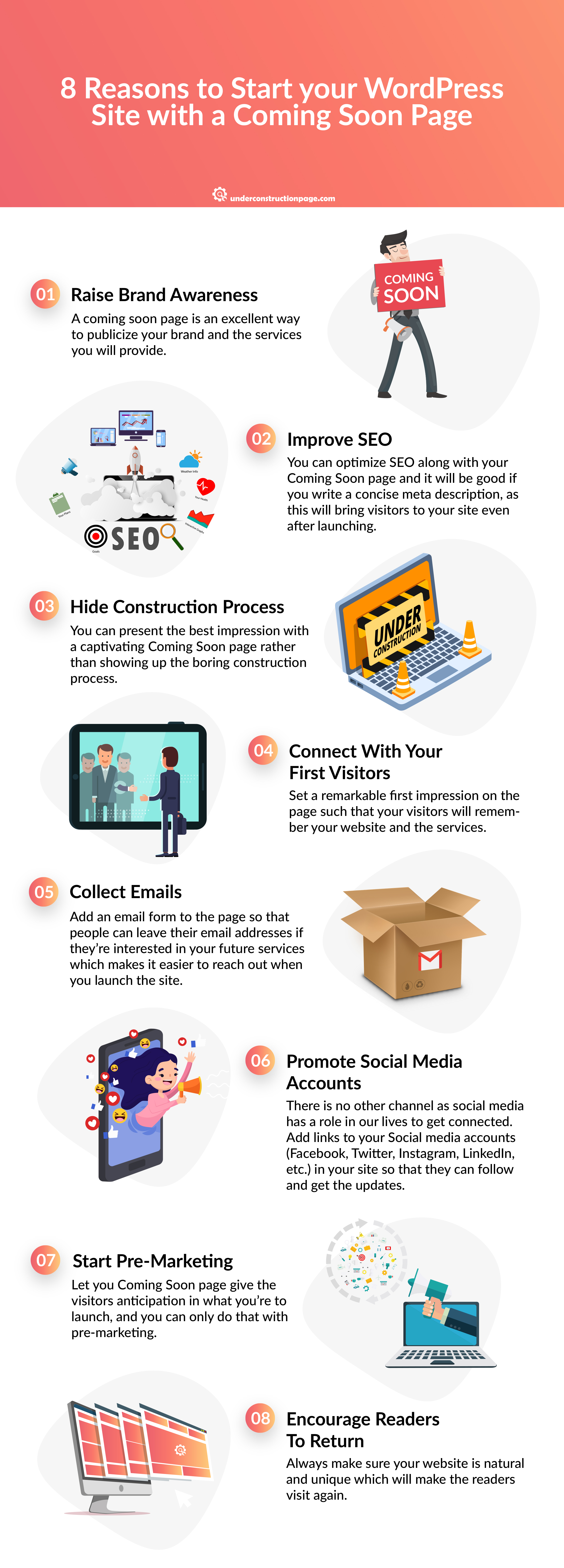 Why Is It Important To Start Your Blog With A Coming Soon Page?- infographic