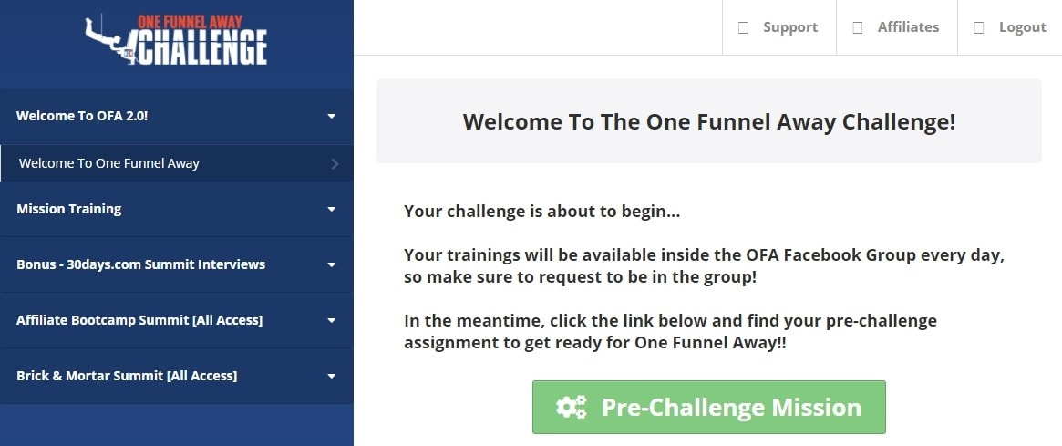CS SCS - Products - One Funnel Away Challenge membership area
