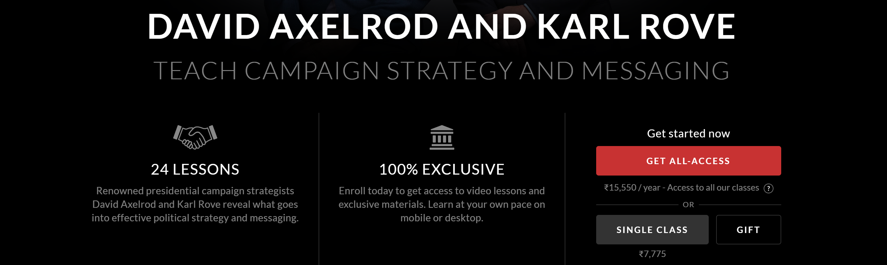 Campaign Strategy MasterClass Pricing-