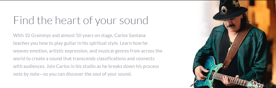 Carlos Santana MasterClass Review - heart of your sound