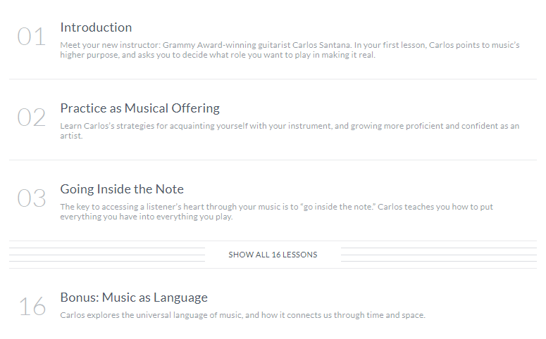 Carlos Santana MasterClass Review- lesson