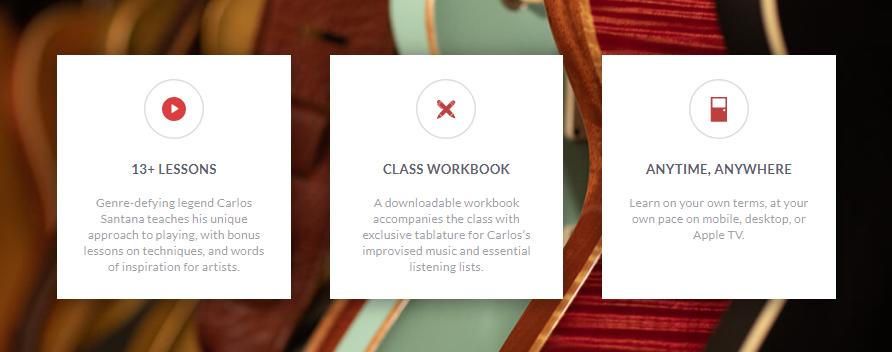 Carlos Santana MasterClass Review - lesson