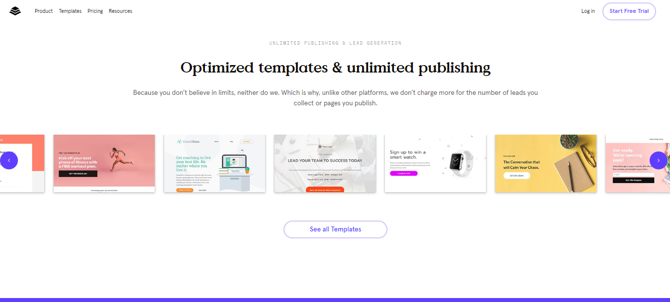 ClickFunnels Vs LeadPages - templates